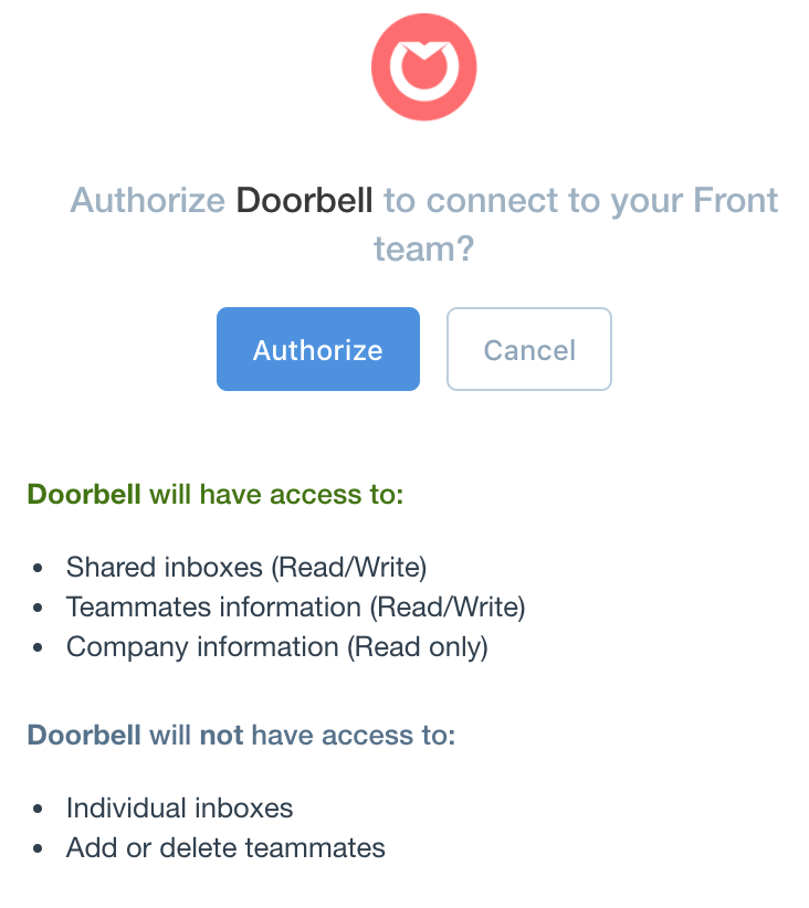 Authorize page